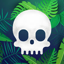 Cryptoskull logo 1 with a leaf background